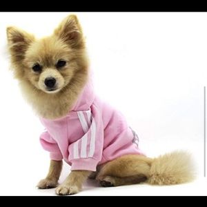ADIDAS DOGGY OUTFIT. SIZE XS PINK AND WHITE